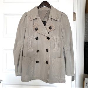 Joie Double Breasted Cotton Utility Coat